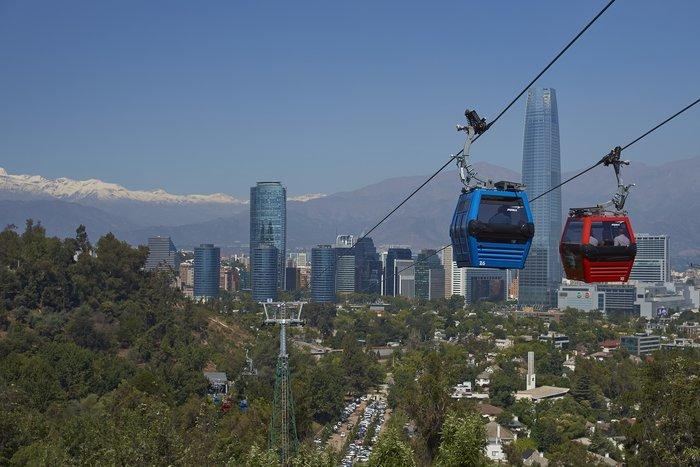 Take a cable car up Cerro San Cristóbal