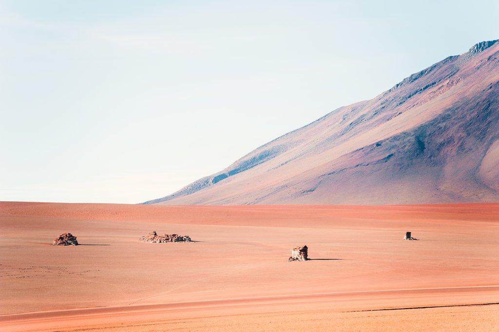 Stones in the Salvador Dali Desert