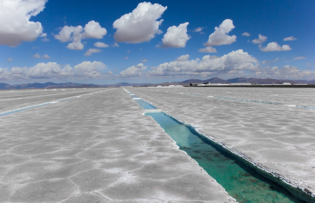 The salt flats in northwest Argentina