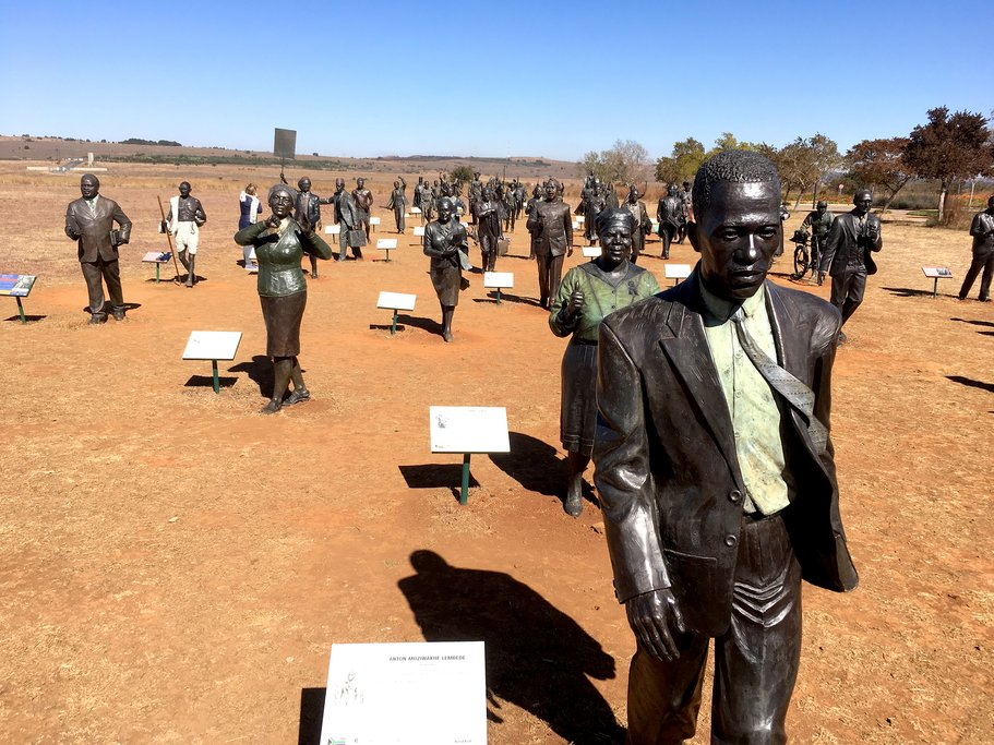 Art exhibit at Cradle of Humankind