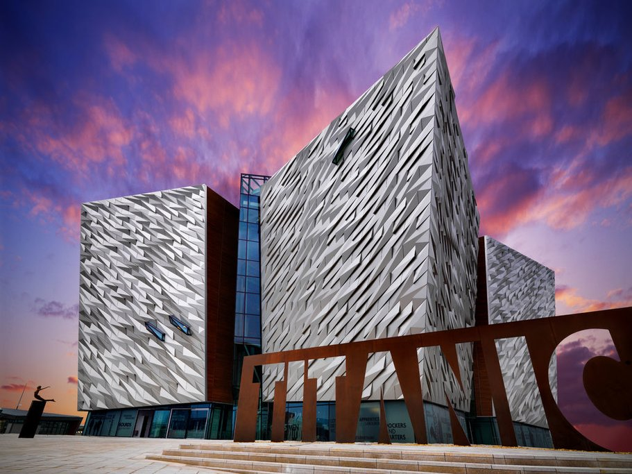 The Titanic Exhibition, one of Belfast's most popular attractions.