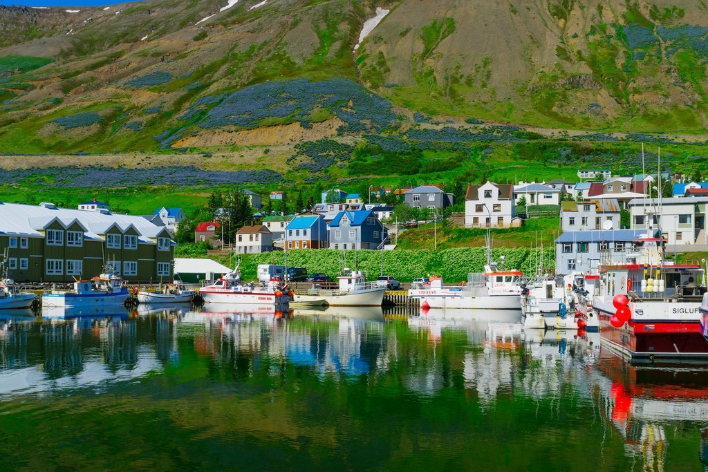 The charming town of Siglufjordur