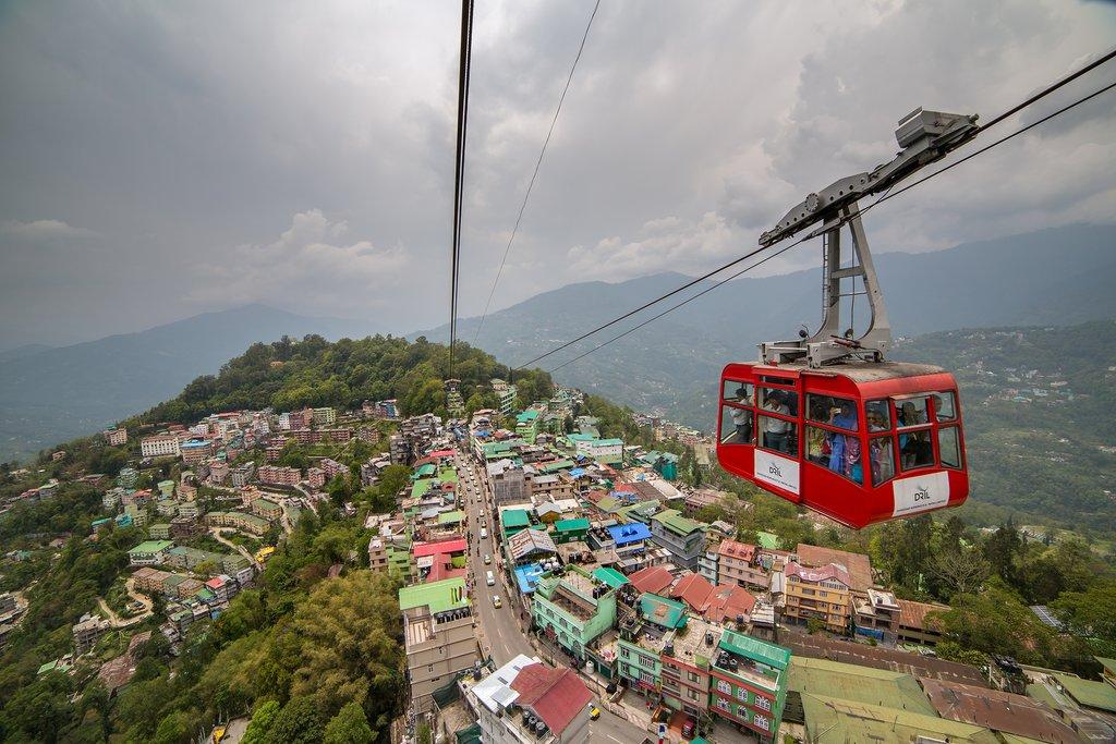 Cable car in Gangtok