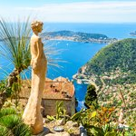 Aerial view of the Mediterranean from Eze village