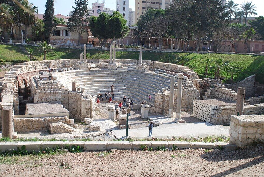 The 2000-year-old Roman amphitheater in Alexandria, Egypt