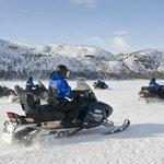 Evening Snowmobiling in Tromsø