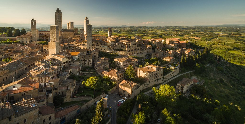 Montepulciano, one of Tuscany's wine-producing capitals