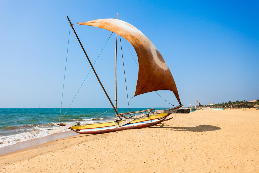 Negombo is famous for its sandy beaches & fishing industry