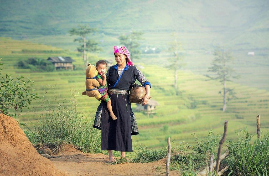 Ifugao woman and child