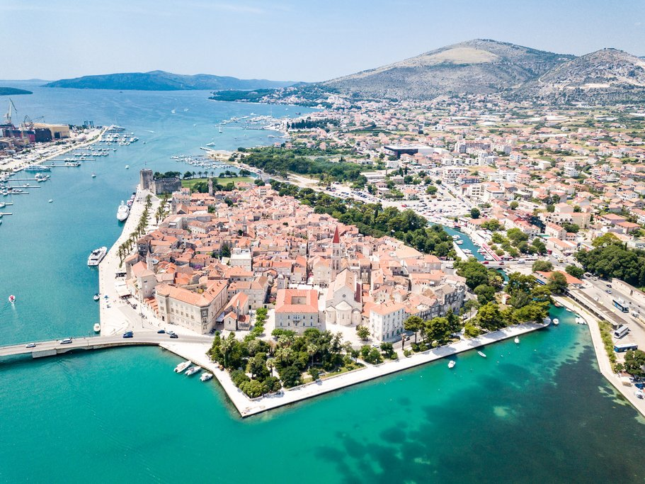 Aerial View of Trogir and its Surroundings