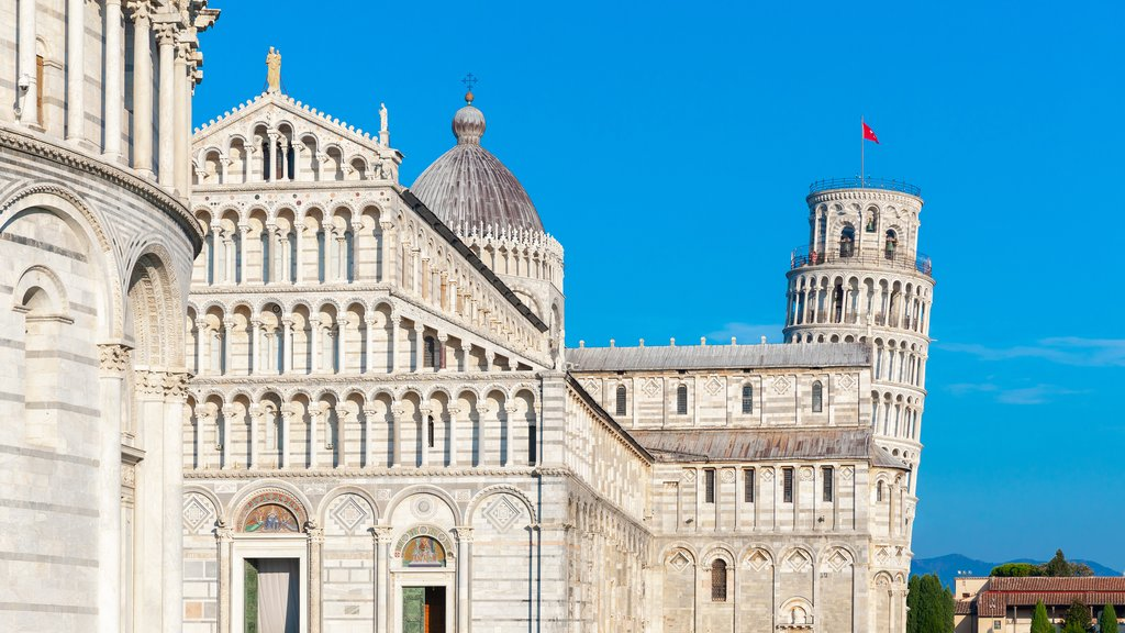 The Baptistery, Cathedral, and leaning tower