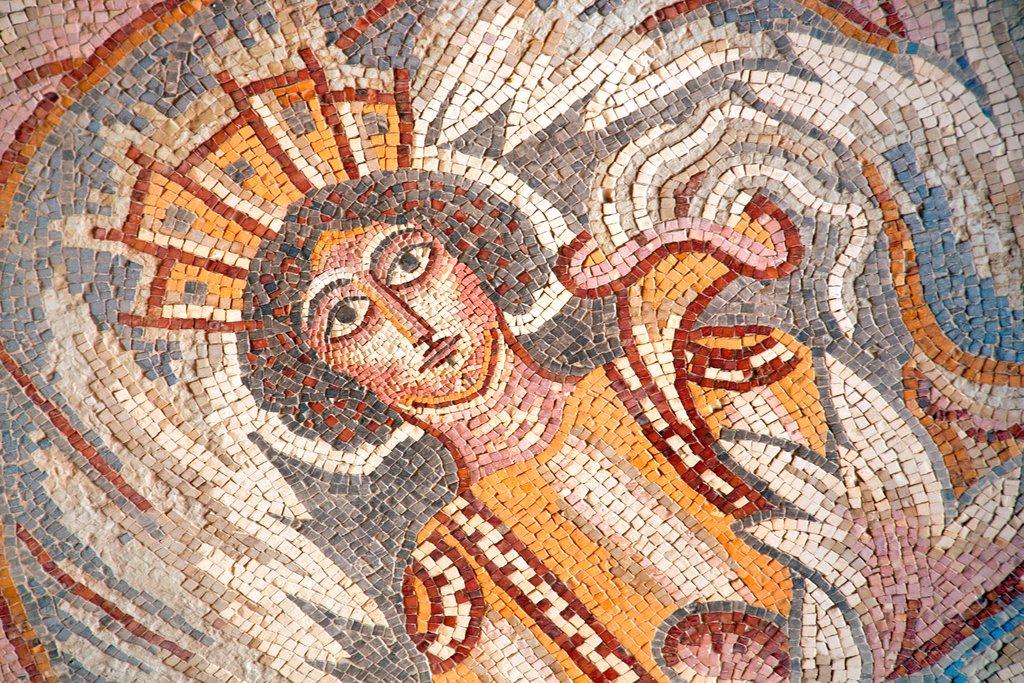 A natural stone mosaic in Madaba