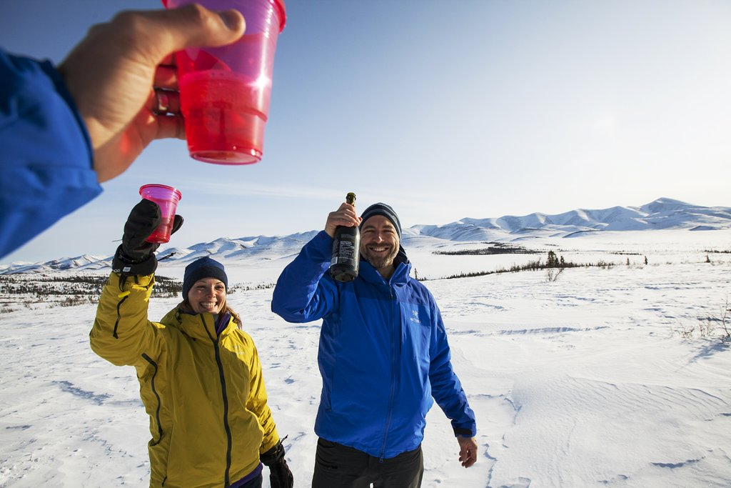 Raise a glass to toast your Arctic Circle crossing