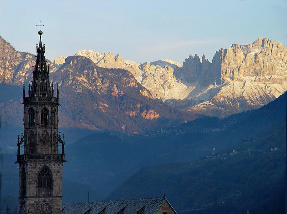 Looking out from Bolzano