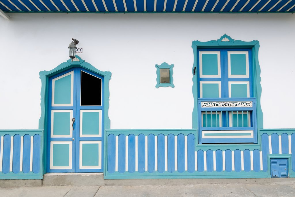 Colorful house in Salento