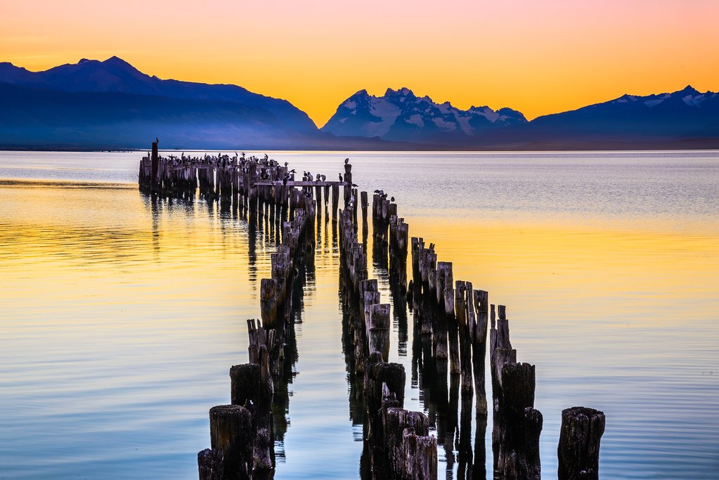 Sunset in Puerto Natales