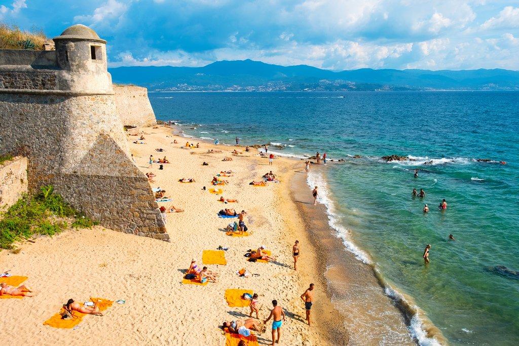 Sunbathing in Corsica