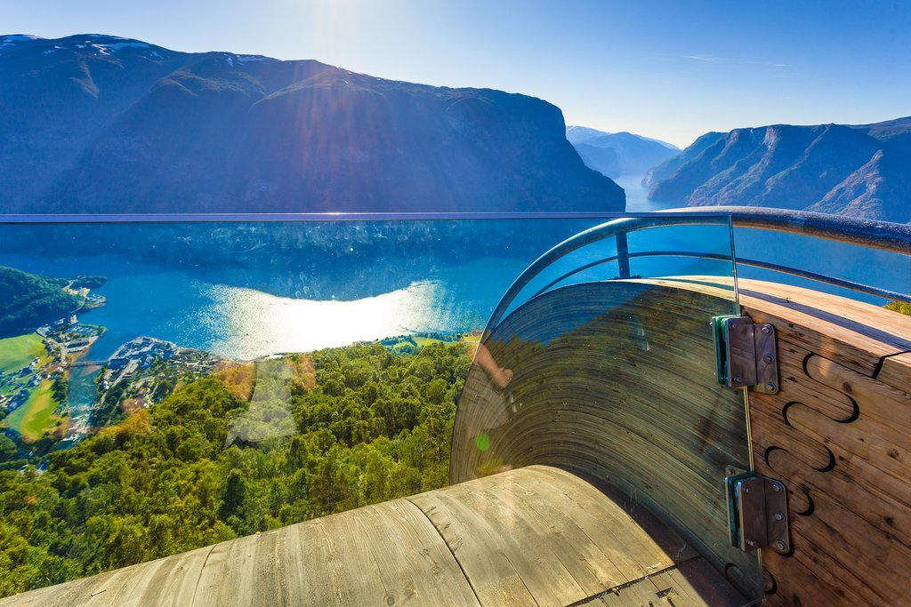 Stop at Stegastein Viewpoint and take in the views