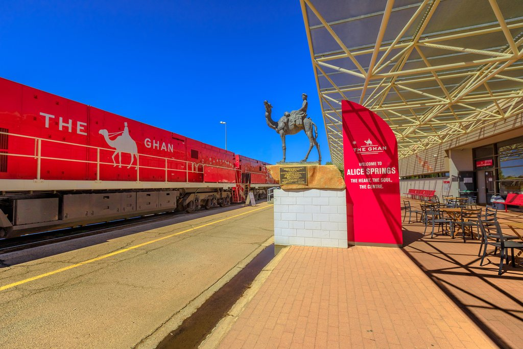 Travel by train to Alice Springs in Australia's Red Center