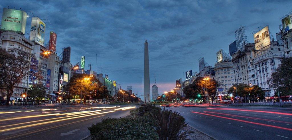 The vibrant, distinctive cityscape of Buenos Aires