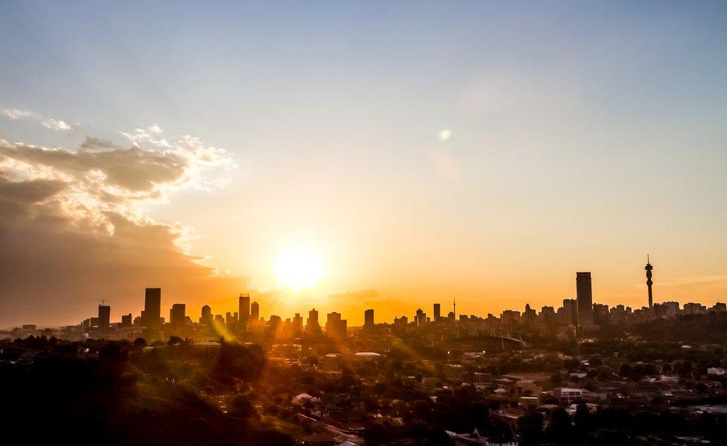 Sunrise over Johannesburg