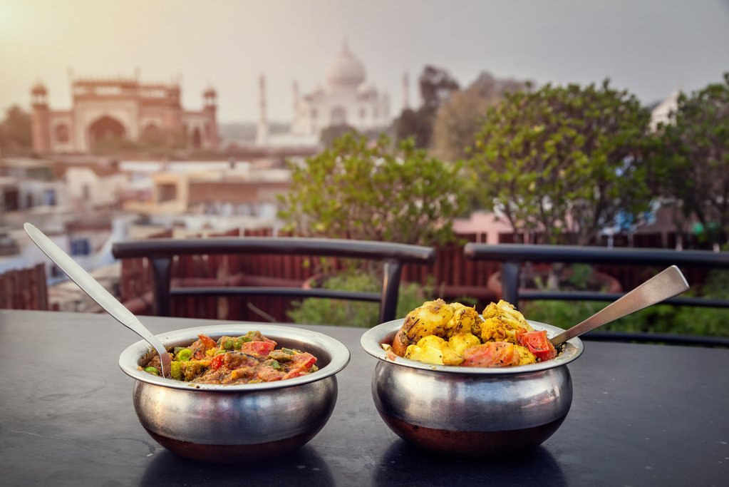 Dinner with a view in Agra