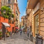Pedestrian street in central Sorrento