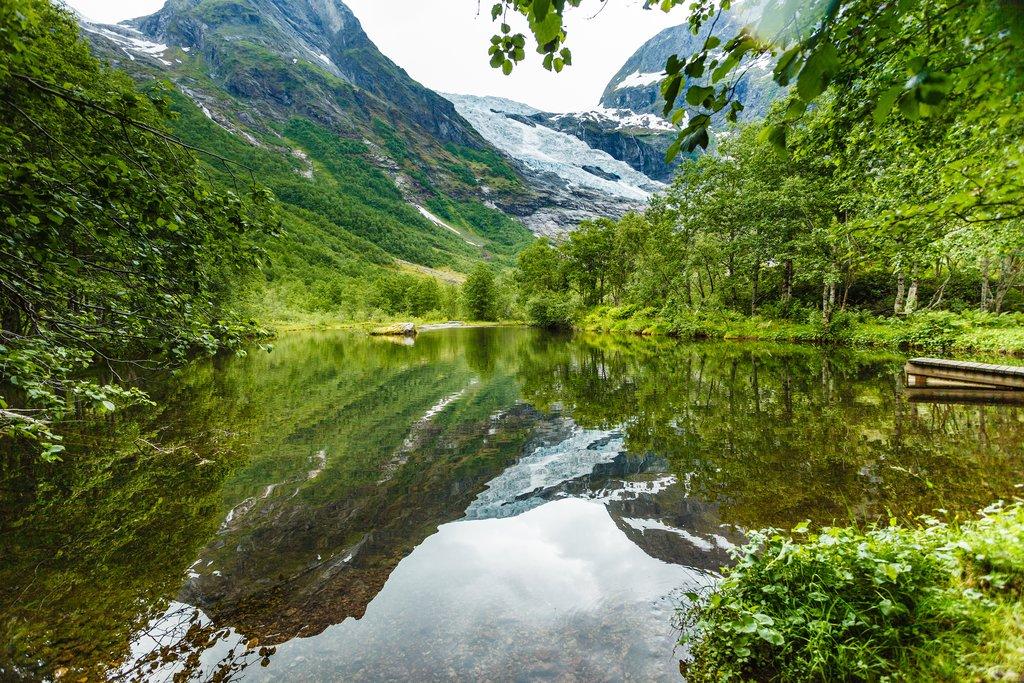 Fewer tourists near Sogndal