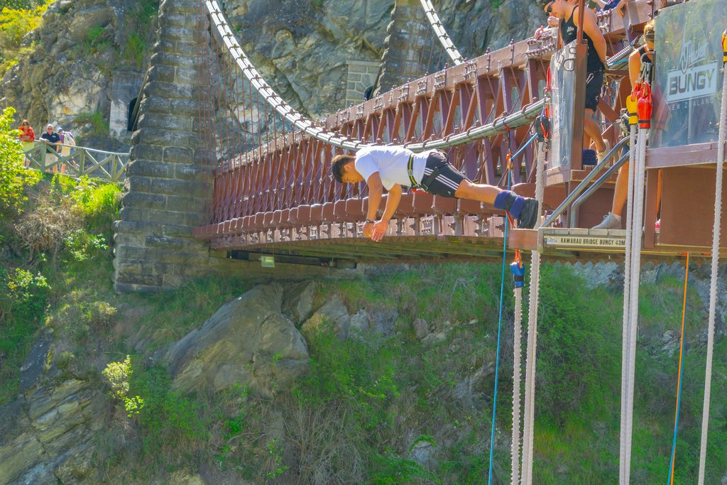 Go bungee jumping over the Karawau River