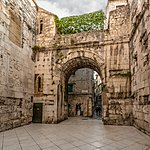 Split's ancient Golden Gate leads to Diocletian's Palace