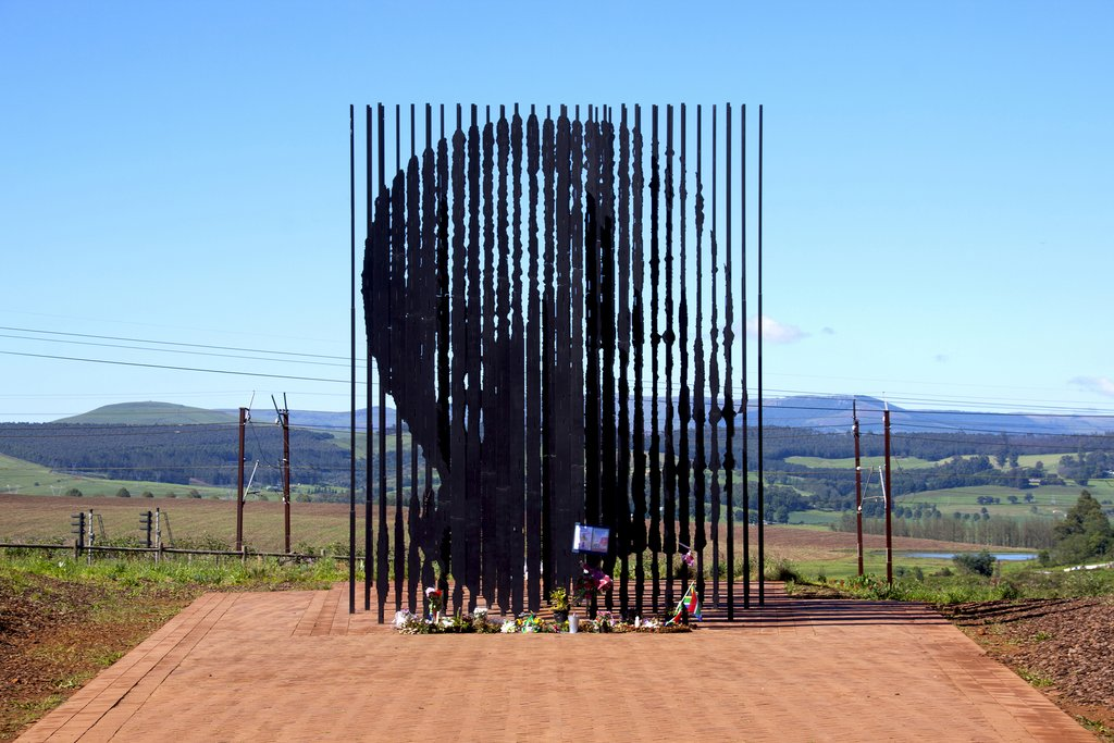Nelson Mandela's capture site sculpture