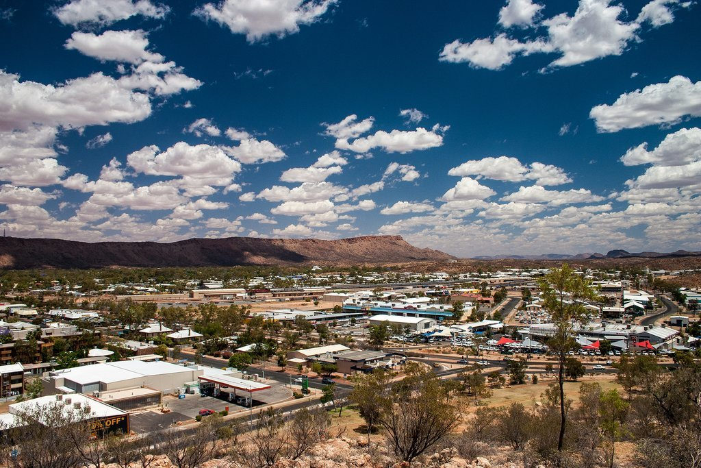 The view of Alice Springs