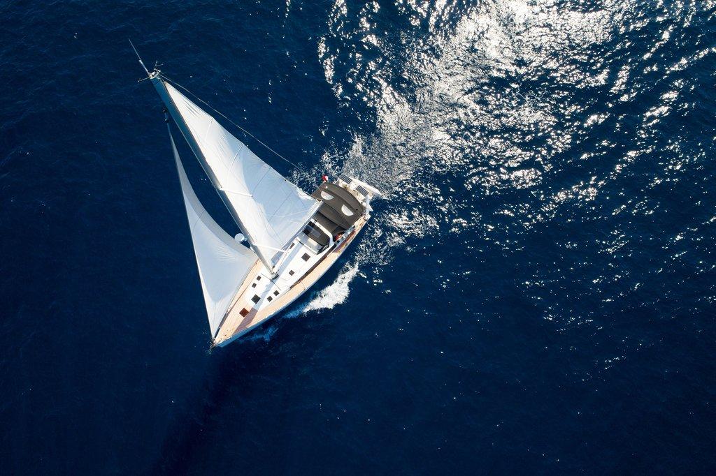 Sailboat cruising on the Adriatic