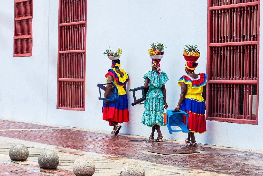 Fruit vendors in Cartagena de Indias