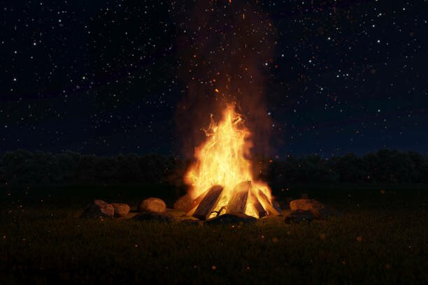Take in the experience around the fire