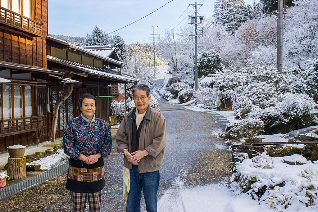 Welcoming locals along the Nakasendo Trail.