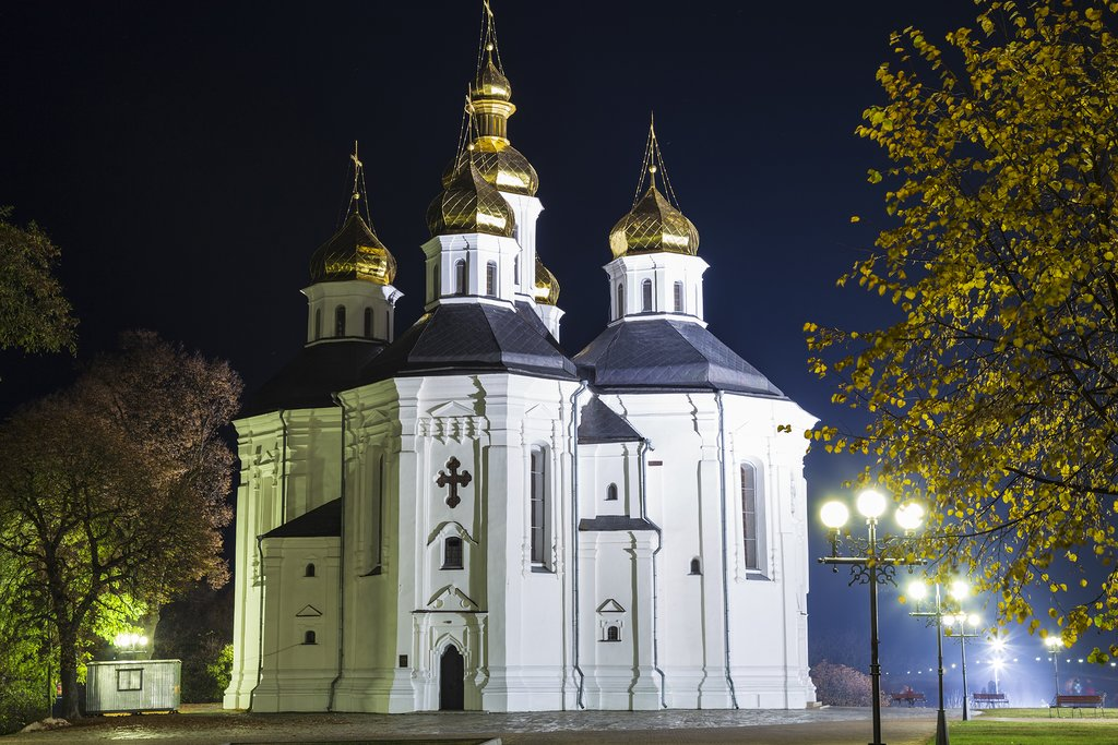 Ukraine - Ancient Catherine's Church - Kiev Patriarchate Orthodox Church, Chernigov ( Chernihiv) city