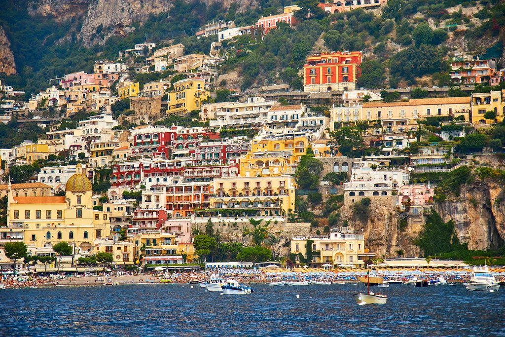 View of Positano from the water