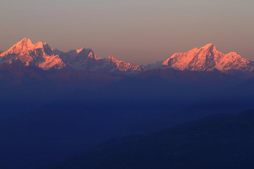 Sunrise of the Himalaya from Nagarkot