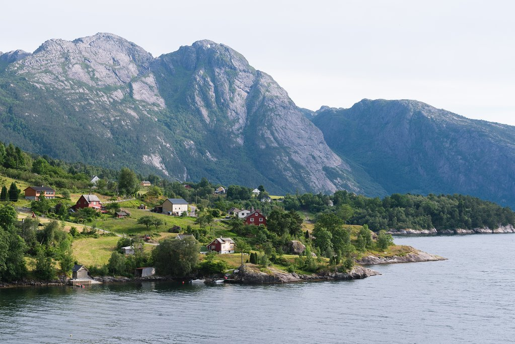 View of the Hardangerfjord