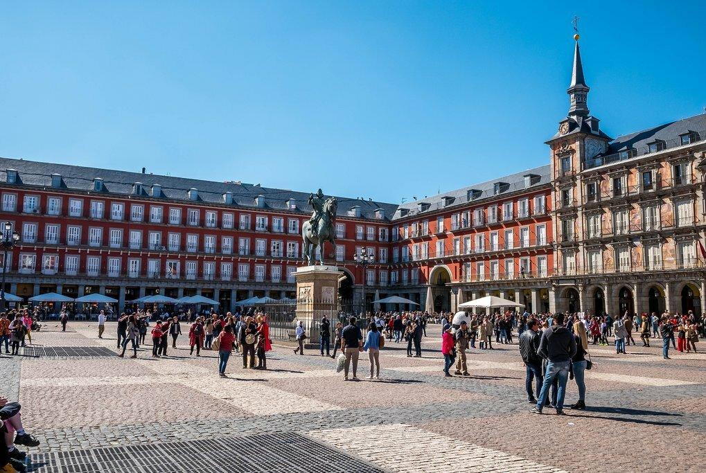 Madrid's central Plaza Mayor