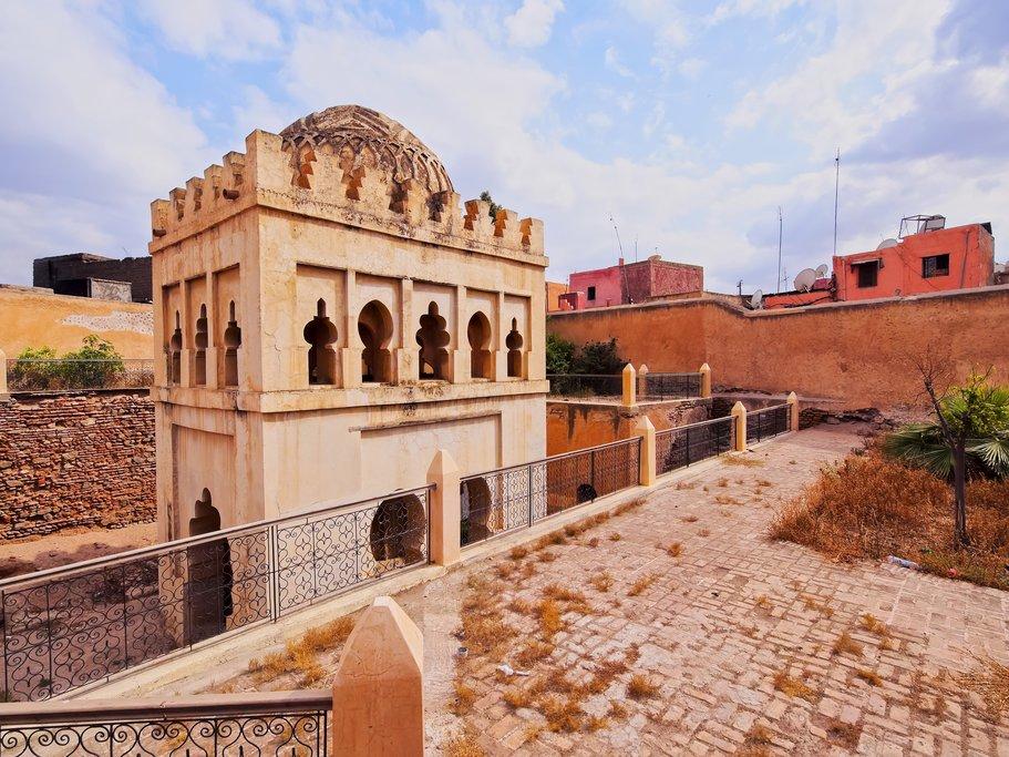 Almoravid Koubba - famous landmark in Marrakesh Morocco Africa