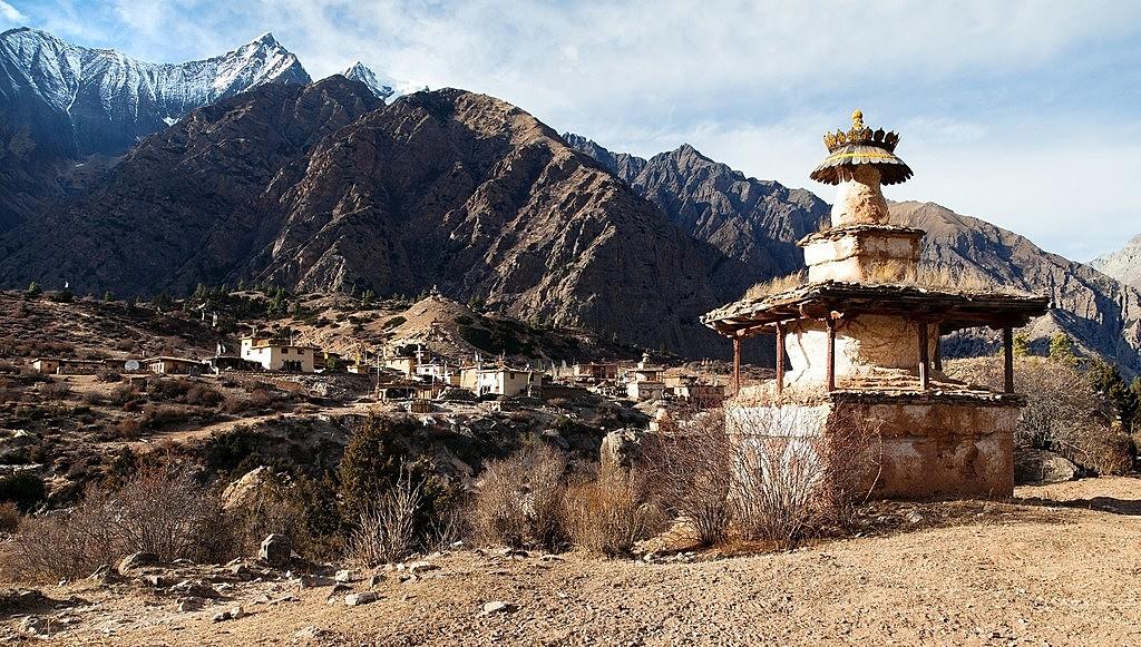 Stupa by the Entrance of Chhepka