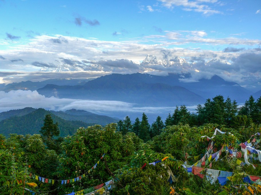 View of the Annapurna range from Poon Hill, Nepal