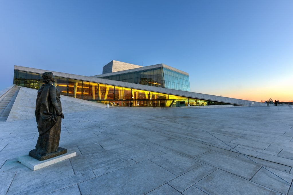 Oslo's Opera house offers great views of the city
