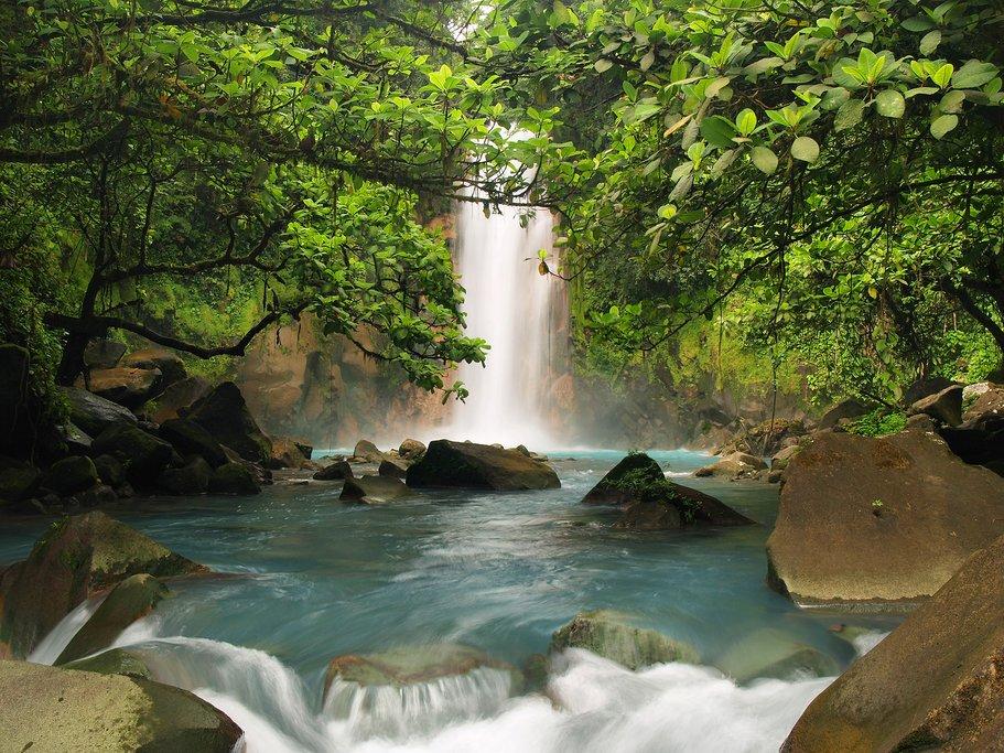 Visit the blue waterfall at Sensoria