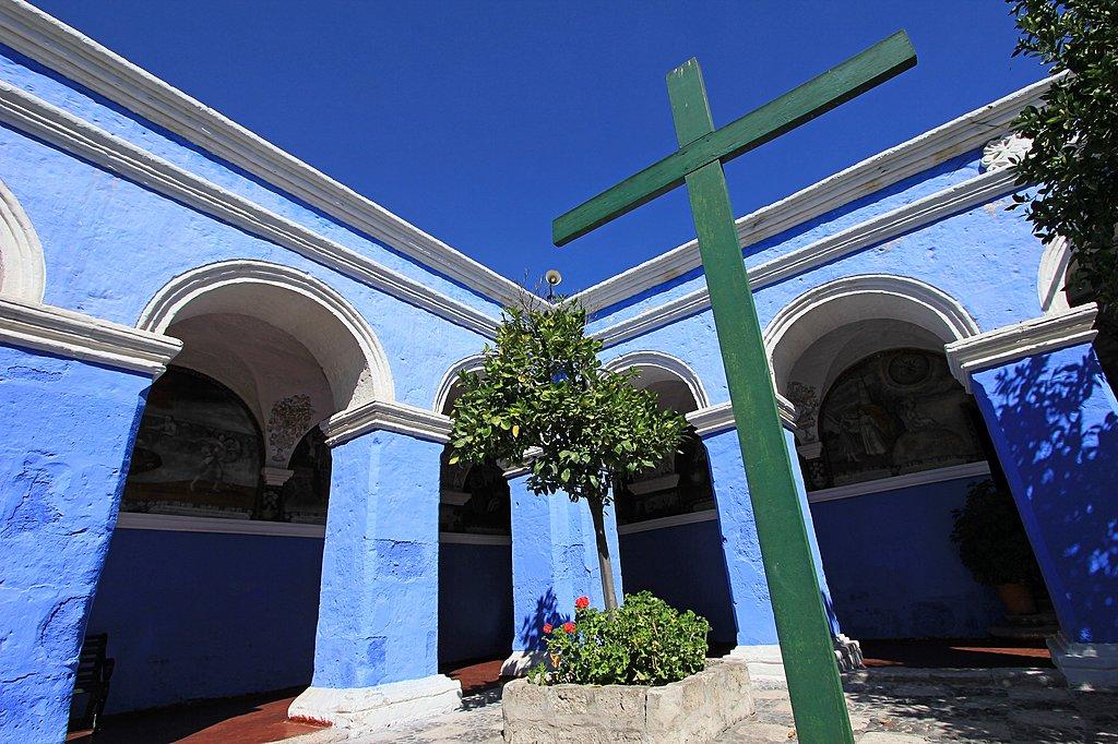 Courtyard in the Monastery of Santa Catalina