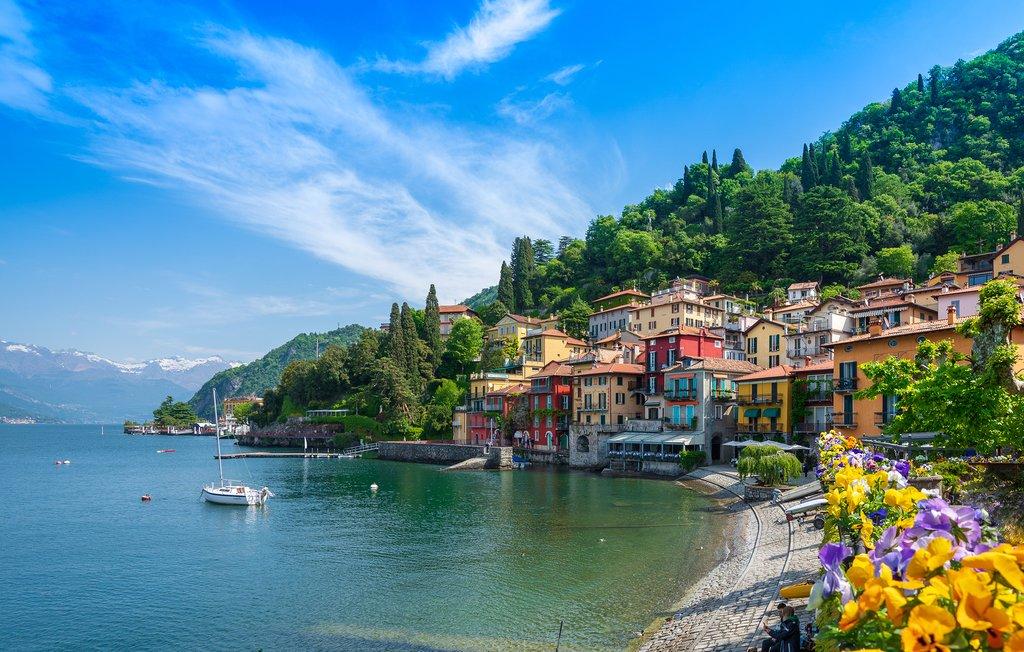 View of Varenna and Lake Como, Italy