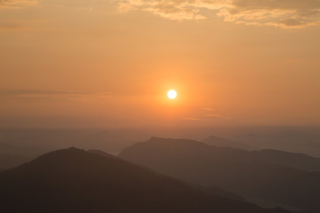 The sunrise from the vantage point of Sarangkot