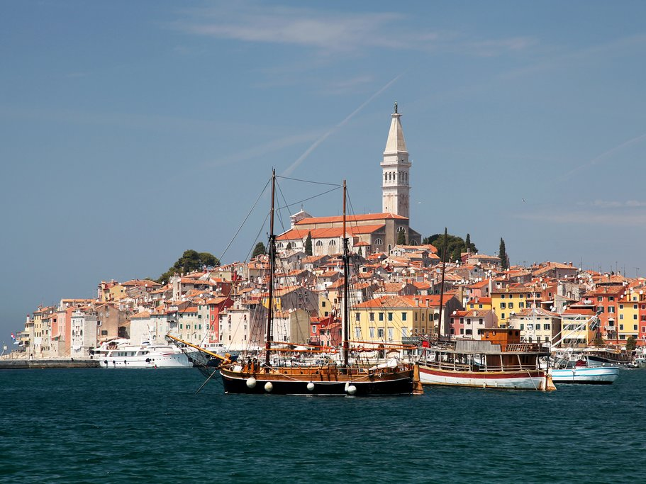 The picturesque seaside town of Rovinj